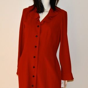 Dresses & Skirts - Vintage D.J. Summers Red Long-Sleeve Dress, NWT!
